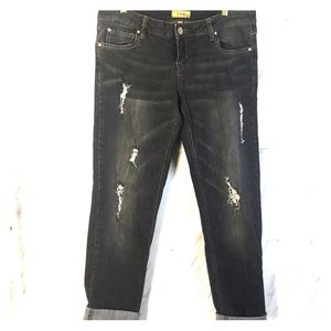 STS BLUE | Distressed Black Jeans | Size 9 |